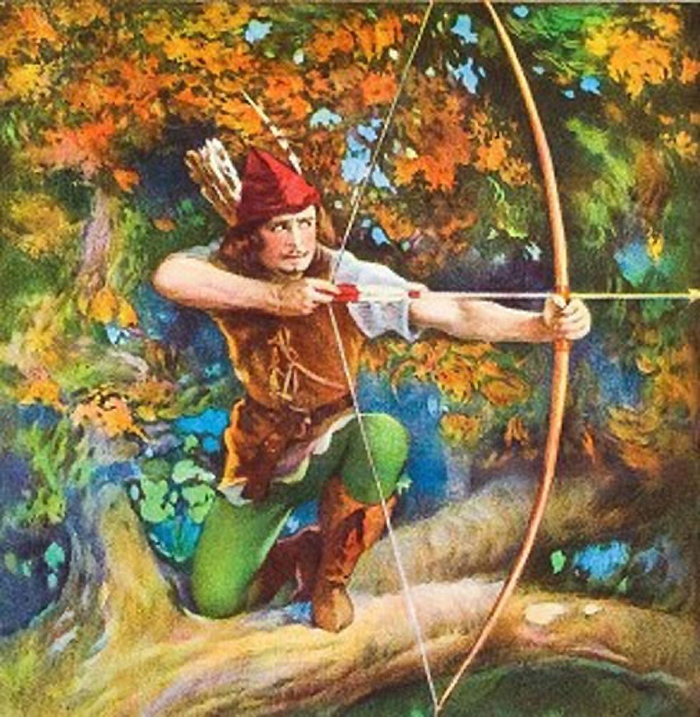 The Tales of Robin Hood caught many a young man's fancy for the bow.