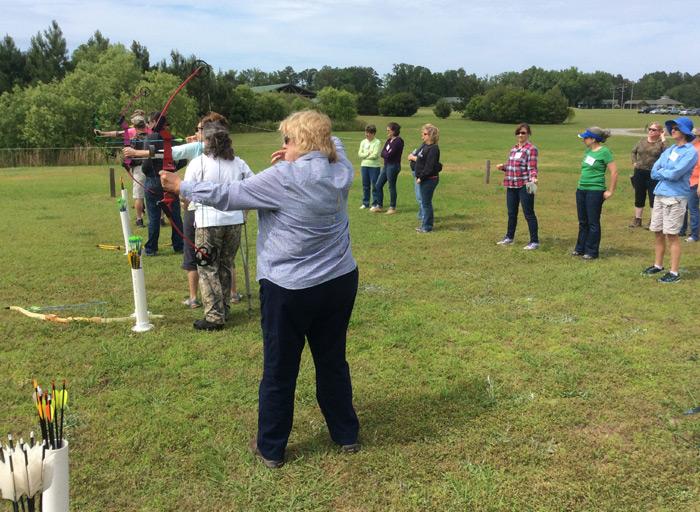 Ladies shooting the Mathews Genesis bows