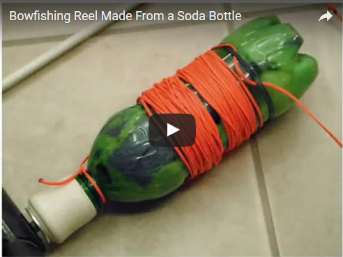 Make a Bowfishing Reel from a Soda Bottle
