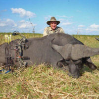 Author with his Cape Buffalo.