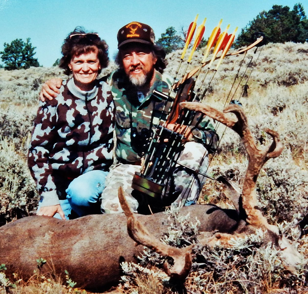 A record book muley like this Wyoming buck becomes an even more special trophy when the hunt is shared with a friend or family member. My wife Janet watched me stalk and arrow this bedded P&Y buck in the early 1990s.
