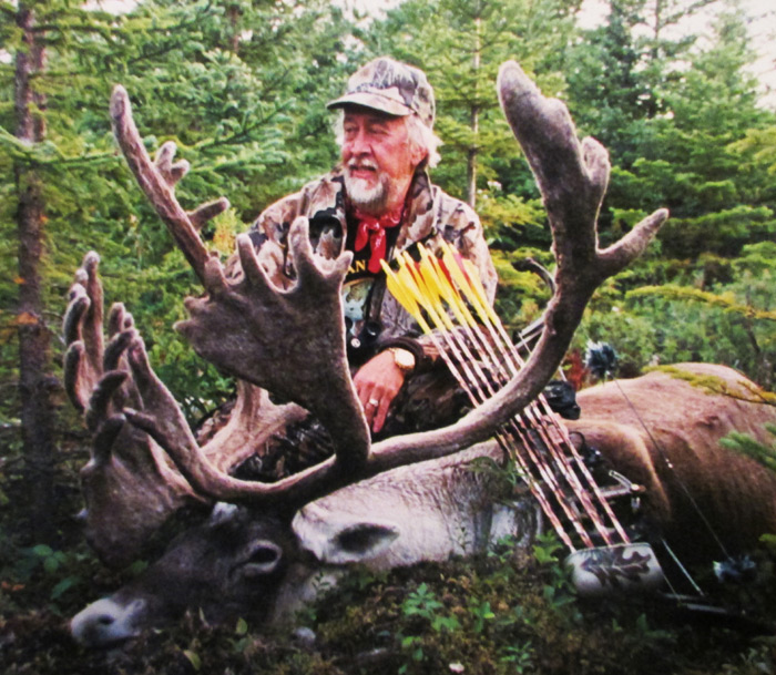 "During my 50+ years of bowhunting North American big game, I've been blessed to take a good many animals that qualified for entry in the Pope and Young and Boone and Crockett records. This Woodland Caribou was arrowed in Newfoundland in 1999 and still ranks in the P&Y all-time Top 10 for the species. Regardless, other caribou hunts and lesser ""trophies"" have been just as memorable."