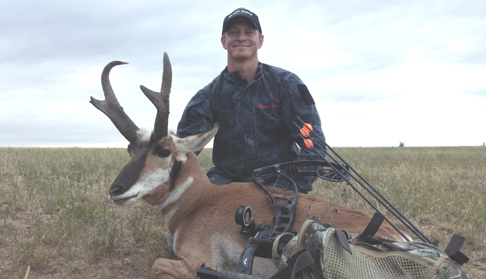 Author with his hard hunted pronghorn.