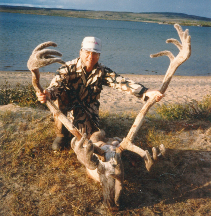 The Quebec-Labrador caribou has much bigger antlers than the woodland species.