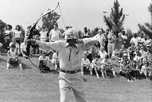 The great Fred Bear knew putting a bow in a persons hand might start with targets but the odds were good they would join the ranks of bowhunters.