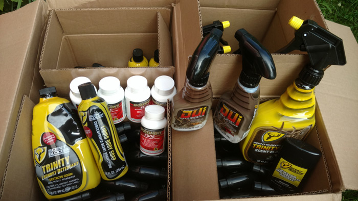 It's an early Christmas when the box of goodies arrives from Robinson Outdoor Products.