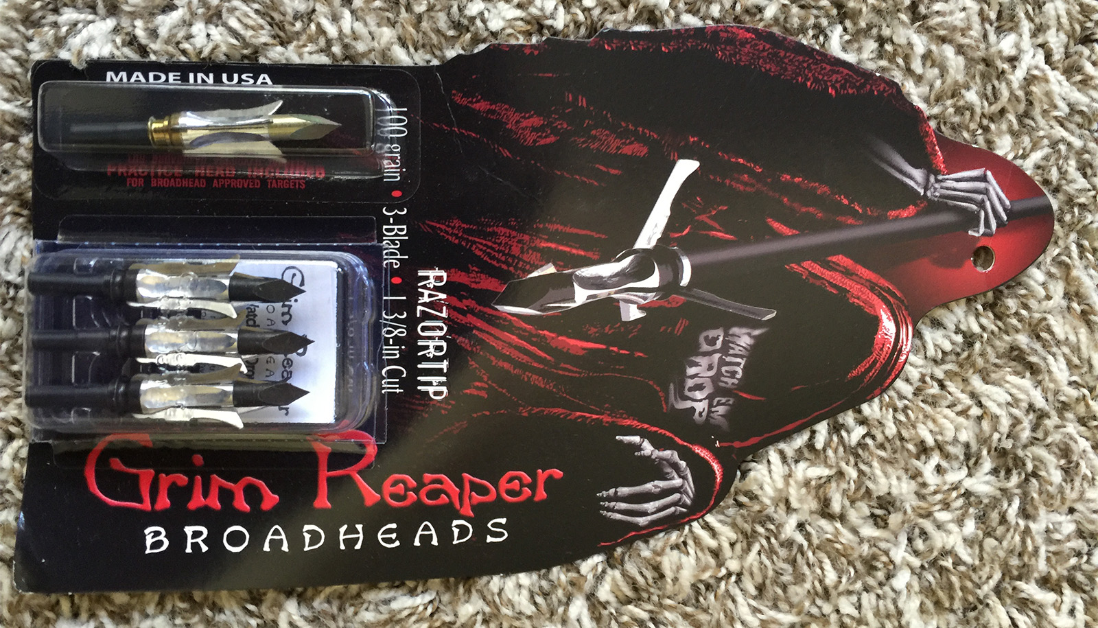 Grim Reaper Broadheads are the choice of veteran bowhunter Rick Philippi