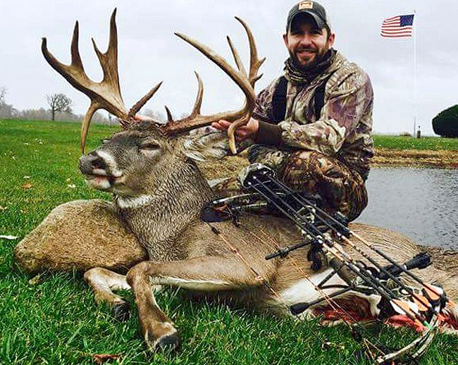 After a restless night the next morning was congratulations and elation when the author found this monster buck.