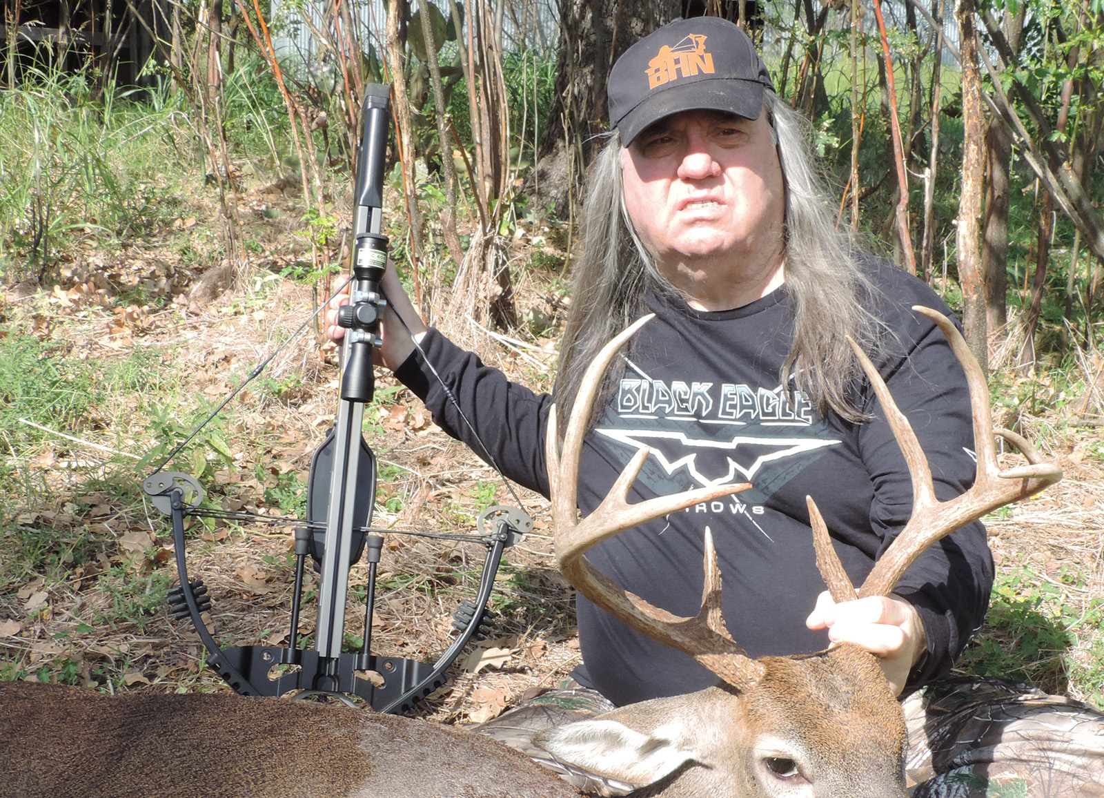robert hoague with whitetail 10 point buck