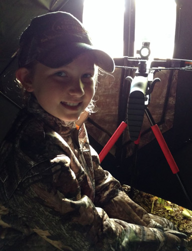 The bow was set. Abby was set and ready for some action.