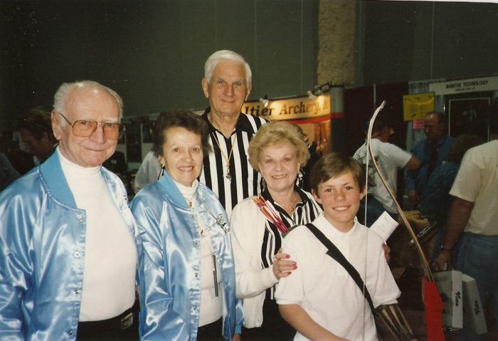 Ann Clark at the Las Vegas Tournament with Officials, and Earl and Ann Hoyt.