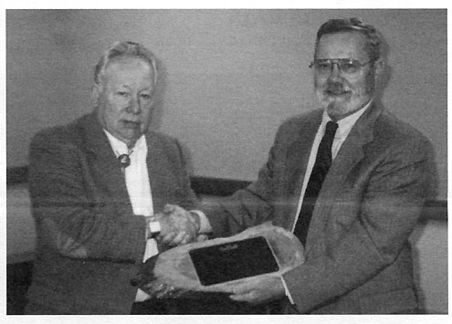 1995 Norb receive a special award presented by the late Dick Lattimer, President of AMO for his many years of service to the sport and industry. A portion of the plaque read: 'Norb's thoughtful counsel, analysis and advice have played a major part in the success and growth of our sport; and in the enjoyable and save manner in which it is pursued. The Award was voted unanimously by the full AMO board of Directors.