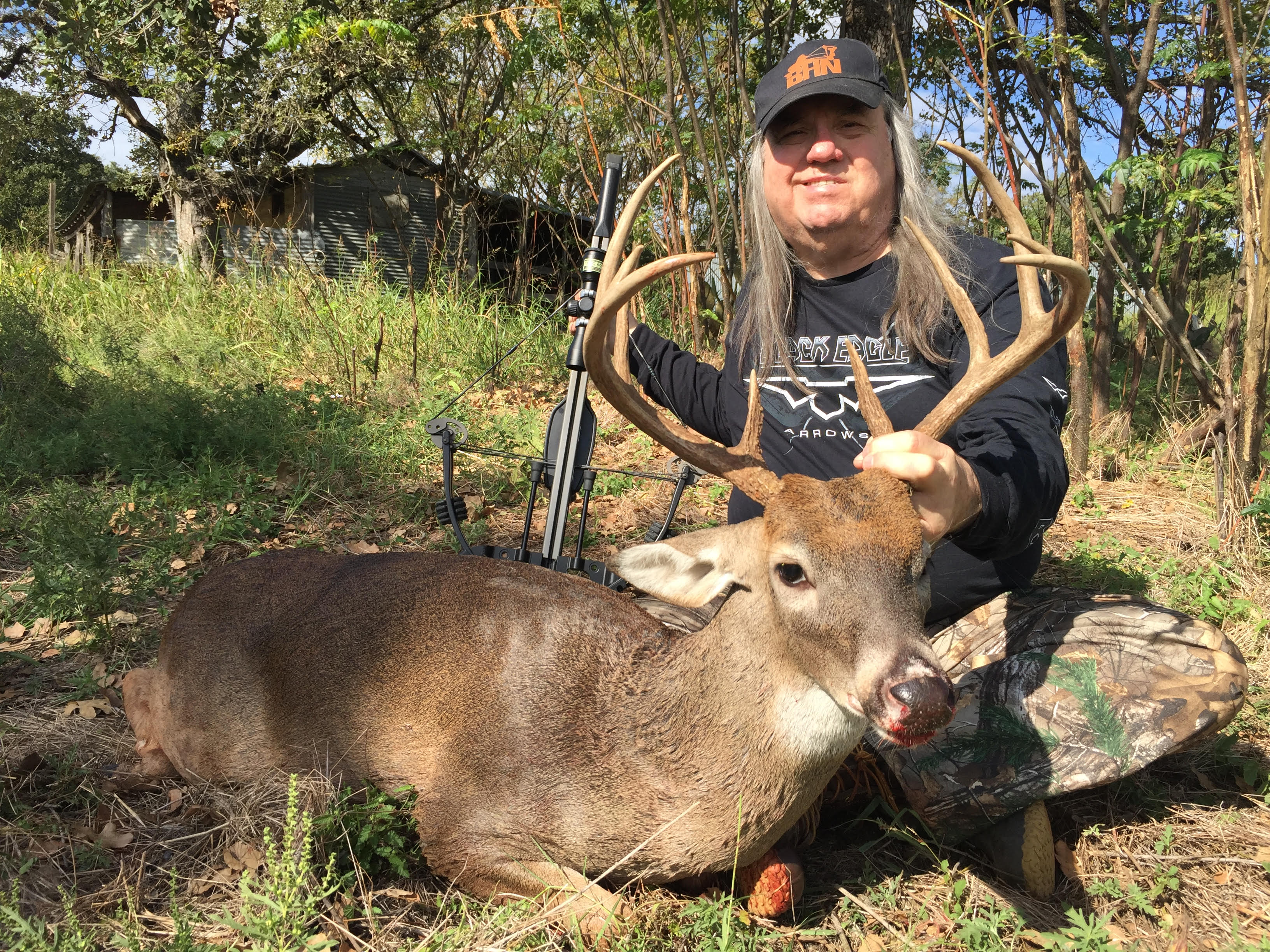 robert hoague and 10 point whitetail buck