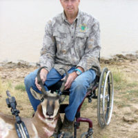 Author with his pronghorn.