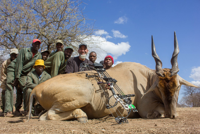 "This Eland was an old warrior that was 34"" and was worn down with age."