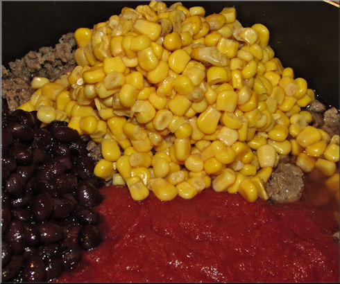 Adding one can of corn... very easy recipe.