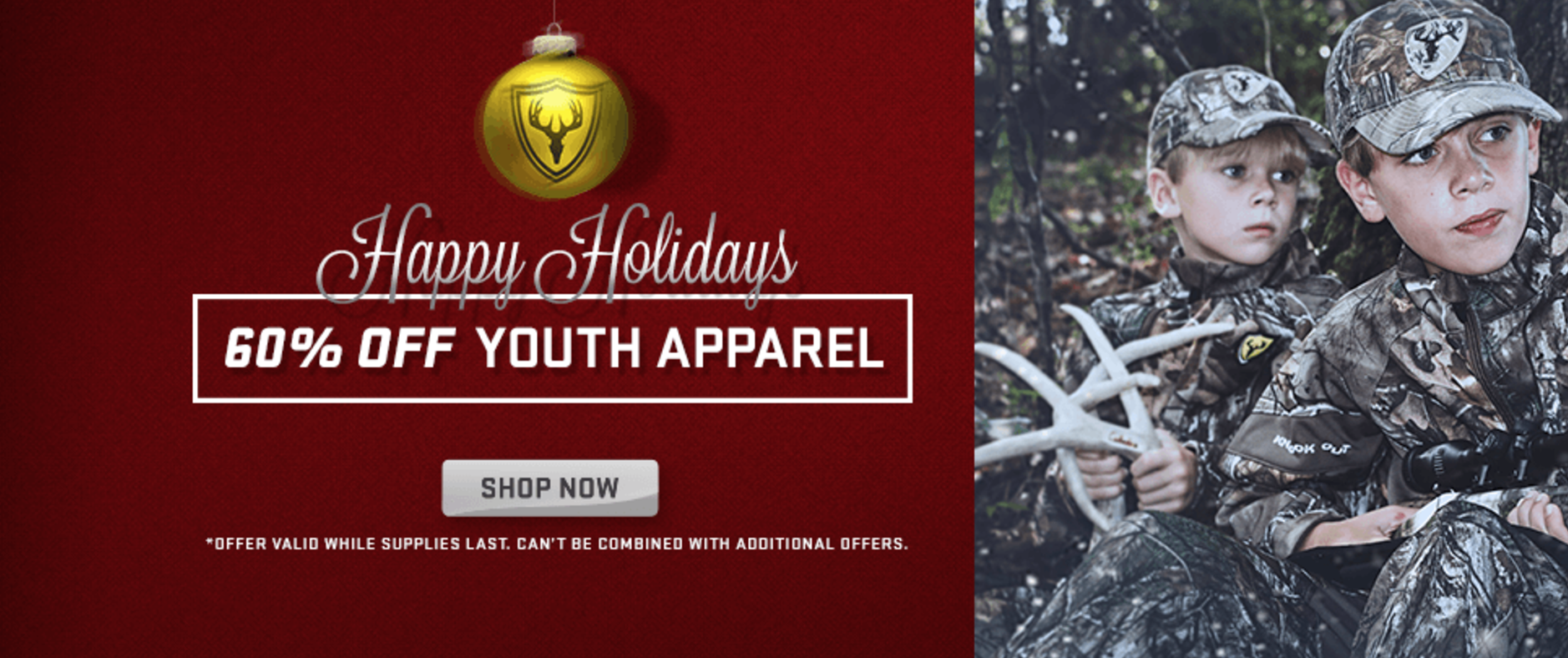 ALL DECEMBER: Save 60% On Youth Hunting Items