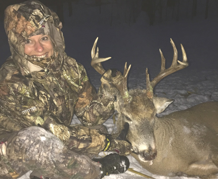 Kim's First Bowkill… or you're never too old to take your daughter hunting