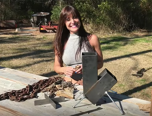 Rocket Stove Starts Easy and Cooks Great!