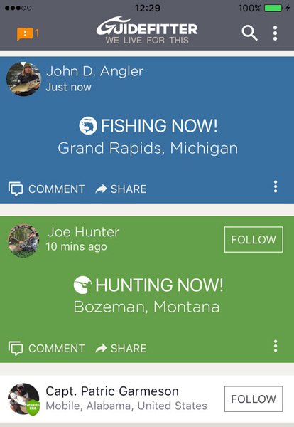 Guidefitter Upgraded Mobile App for Hunting and Fishing Enthusiasts