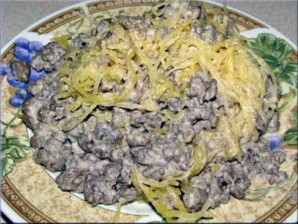 Cooking with SusieQ: Venison and Low Carb Alfredo Sauce with Spaghetti Squash