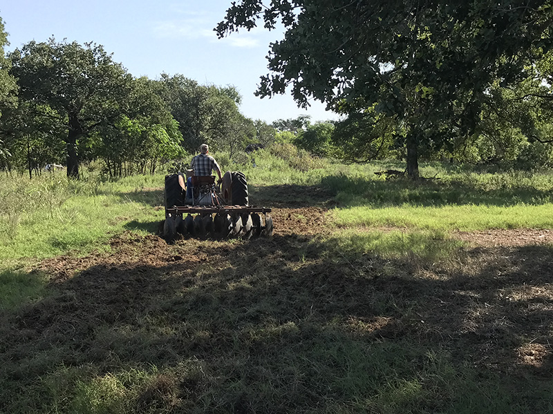 plowing food plot