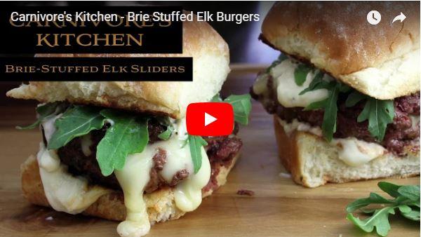 Brie Stuffed Elk Burgers