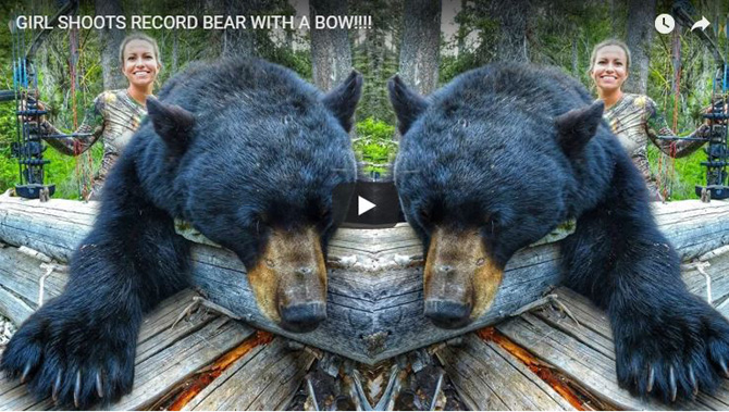 Girl Shoots Record Bear