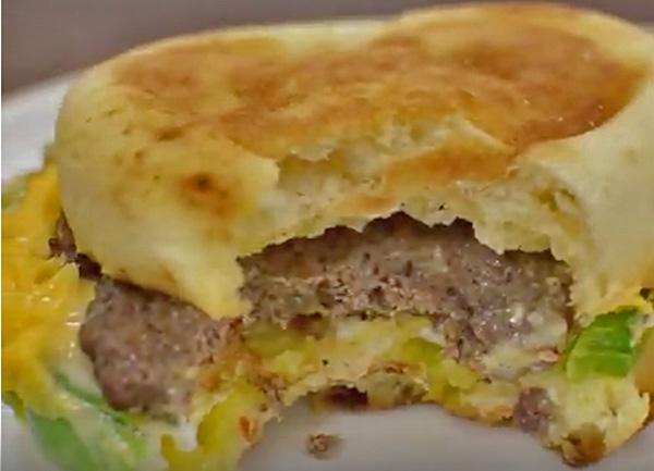 Venison Sausage Breakfast Sandwich