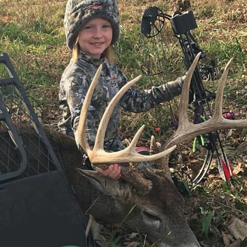 8 Yr old Whitly Gregory: her first buck